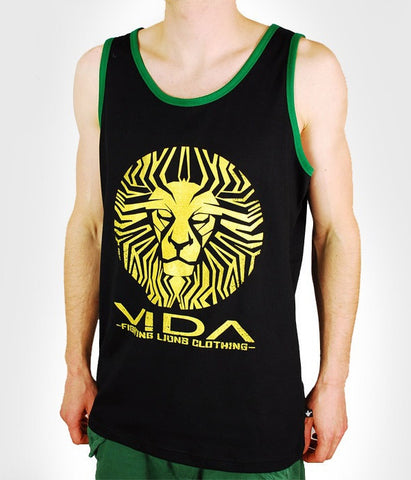 TANK TOP  LION FACE' BLACK