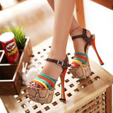 2013, fashion sexy charm of women's orange high-heeled sandals