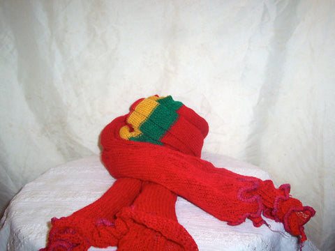 Red, Unisex Head-Wrap/Scarf