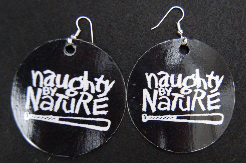 New Retro Black/White Naughty By Nature Earrings