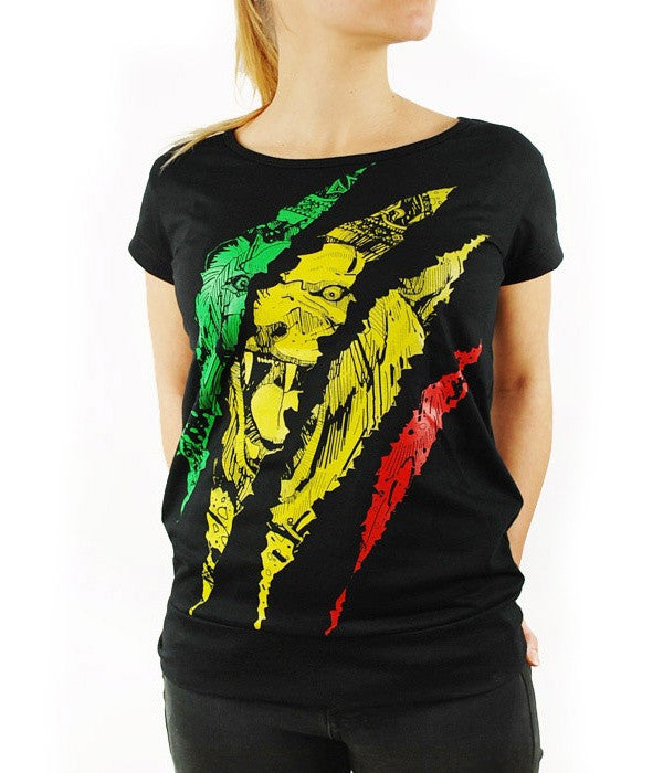 WOMEN'S TEE 'RASTA SCRATCH'