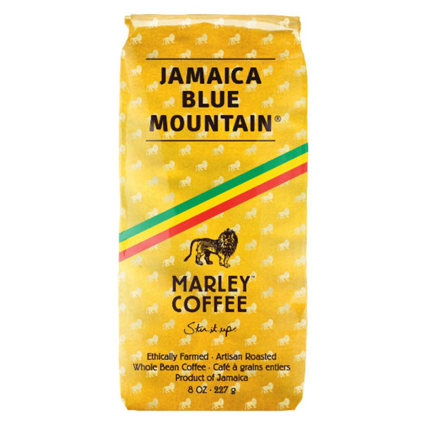 MARLEY COFFEE TOP RANKIN', JAMAICA BLUE MOUNTAIN WHOLE BEAN COFFEE