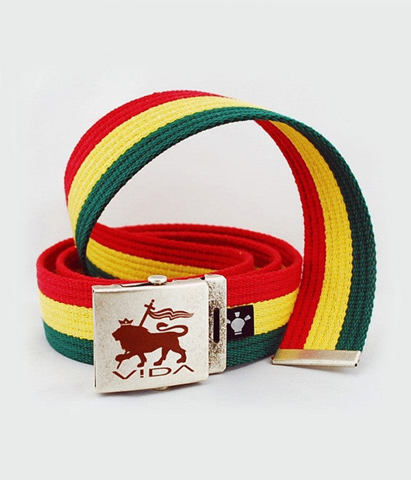 RASTA 'LION OF JUDAH' COTTON BELT with BUCKLE