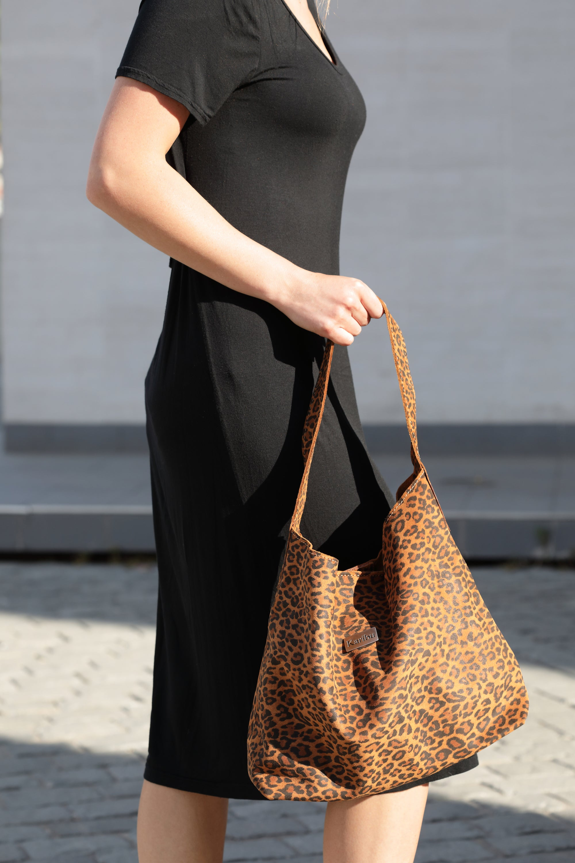 Cartera Dominique Leopardo