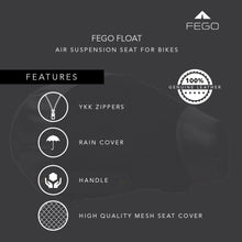 Load image into Gallery viewer, FEGO Float - Air Suspension Seat Black Leather Cushion Seat With Air Suspension Technology