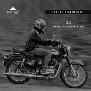 FEGO Float - Air Suspension Seat Black Leather Cushion Seat With Air Suspension Technology