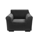 Couch High Stretch Sofa Lounge Cover Protector Recliner Slipcover 1 Seater Black