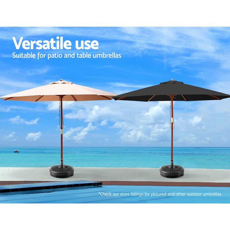 Instahut Outdoor Pole Umbrella Stand Base Pod Sand/Water Patio Cantilever Offset