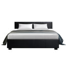 Artiss Queen Size PU Leather and Wood Bed Frame Headboard - Black