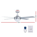 "Devanti 52"" Ceiling Fan with Light Silver"