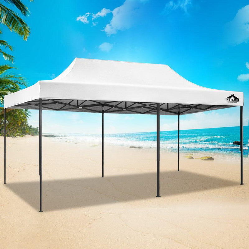 Instahut Gazebo 3x6m Pop Up Marquee Replacement Roof Outdoor Wedding Tent White