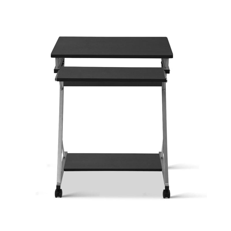 Artiss Metal Pull Out Table Desk - Black