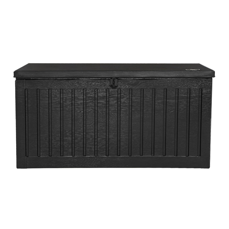 Outdoor Storage Box Container Garden Toy Indoor Tool Chest Sheds 270L Black