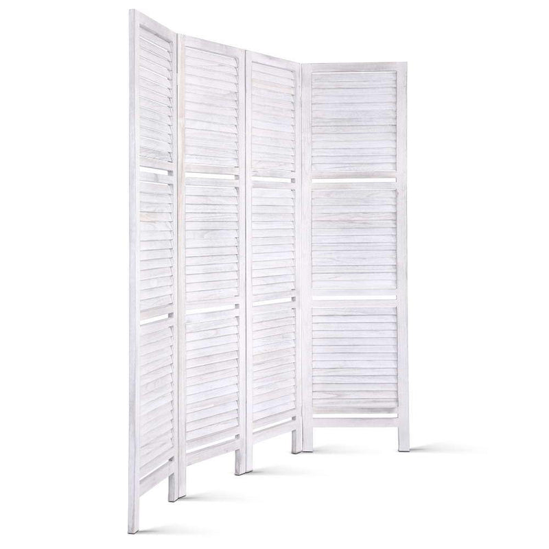 Artiss Room Divider Privacy Screen Foldable Partition Stand 4 Panel White