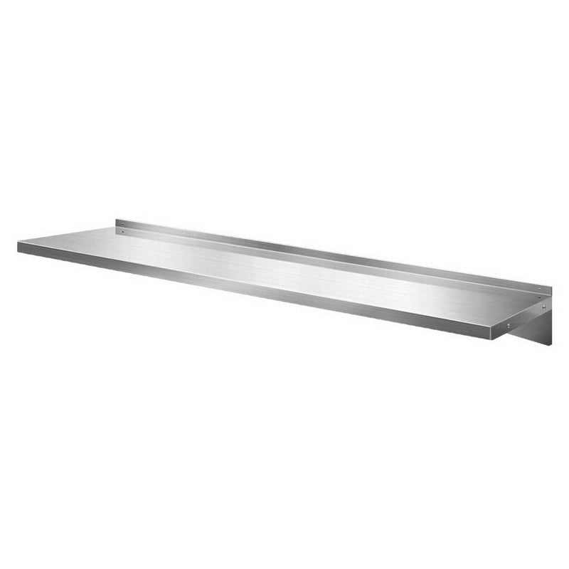 Stainless Steel Wall Shelf Kitchen Shelves Rack Mounted Display Shelving 2100mm