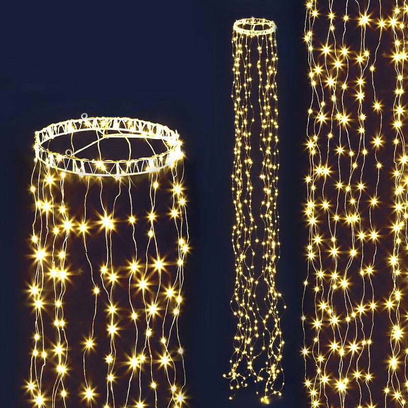 Jingle Jollys 3M Christmas Curtain Fairy Lights String 480 LED Party Wedding