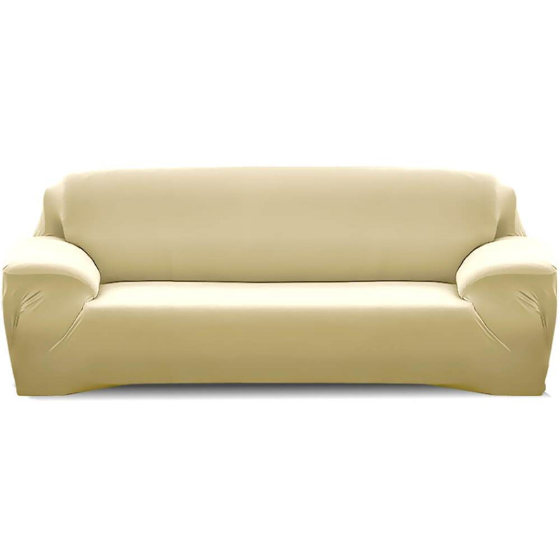 Easy Fit Stretch Couch Sofa Slipcovers Protectors Covers 3 Seater Cream