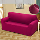 Easy Fit Stretch Couch Sofa Slipcovers Protectors Covers 2 Seater Burgundy