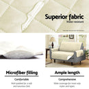Artiss Sofa Cover Quilted Couch Covers Protector Slipcovers 1 Seater Khaki