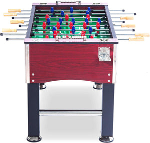 "55"" Soccer Foosball Table Heavy Duty for Pub Game Room with Drink Holders #DST5D81"