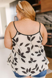 New Leaf Cami In Taupe