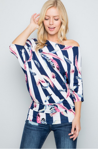 Take Flight Off The Shoulder Dolman