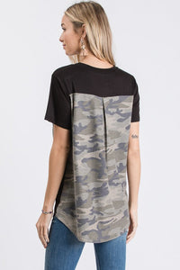 Camo Pocket Back T