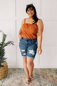 Eyelet You Know Camisole In Cinnamon