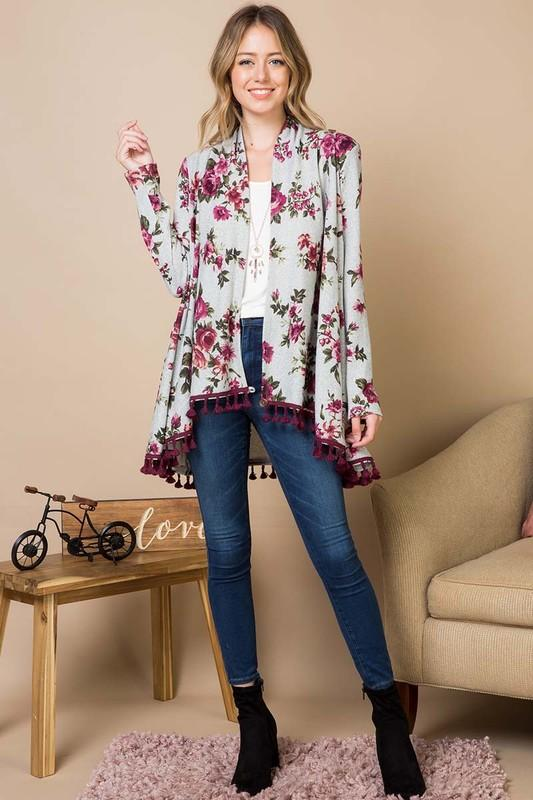 Clearly Yours Open Front Cardigan