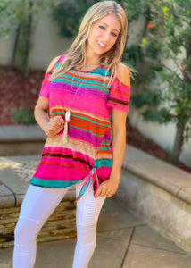 Undeniable Fun Cold Shoulder Top