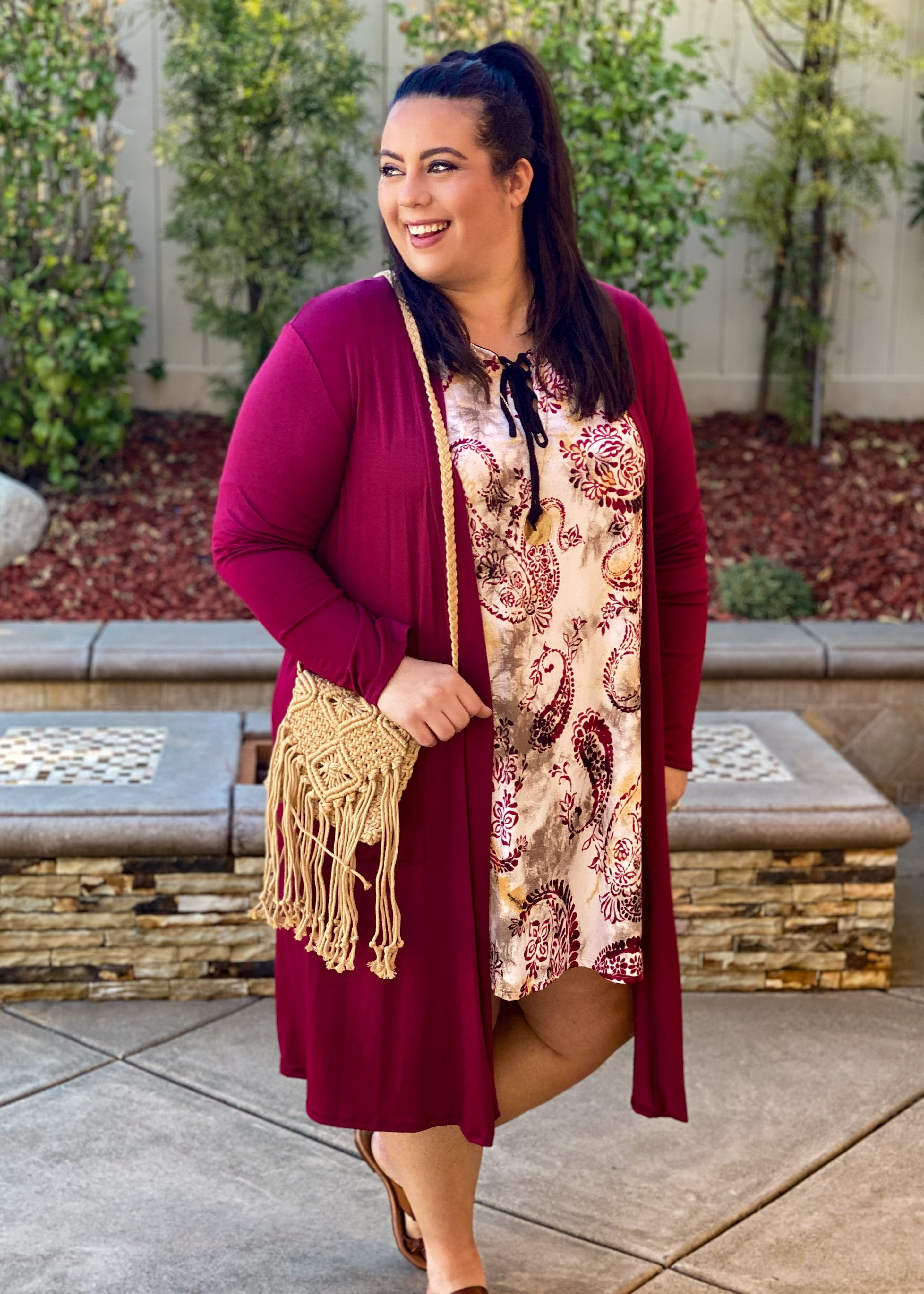 Come Away With Me Burgundy Duster