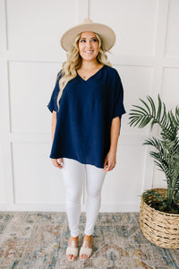 Ocean Breeze Navy Top