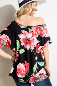 Fanciful Melody Drop Shoulder Top
