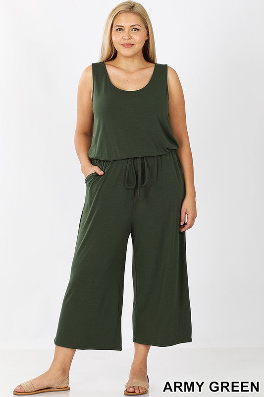 Sleeveless Jumpsuit with Pockets