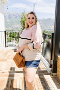 Coraline Colorblock Top in Mauve