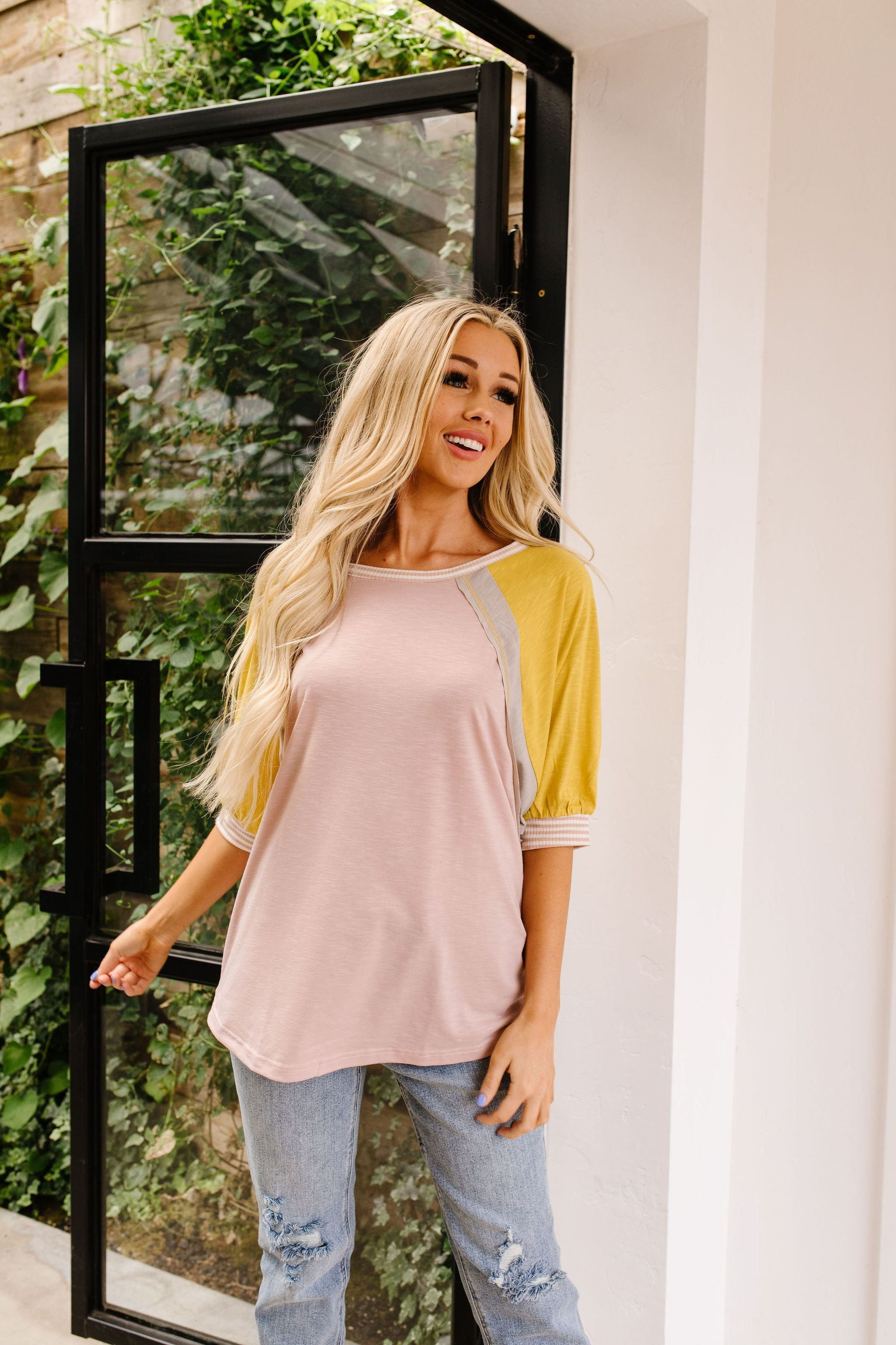 Feminine & Fierce Raglan Top