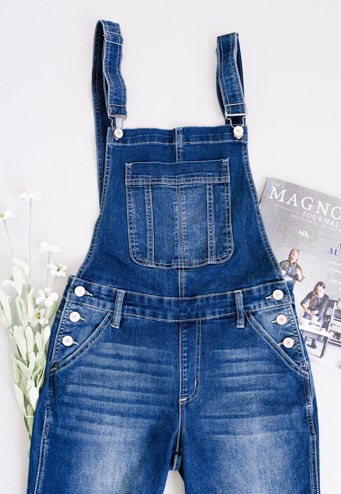 Under Siege Overalls In Dark Wash