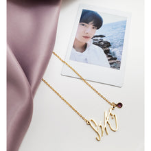 Load image into Gallery viewer, Kim Seokjin Signature - BTS Necklace Signature
