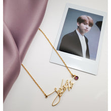 Load image into Gallery viewer, Jeon Jungkook Signature - BTS Necklace Signature
