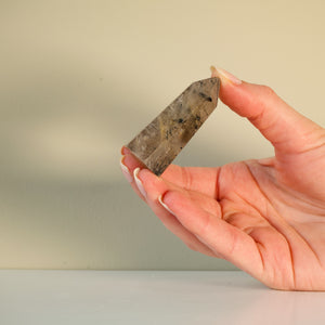 tourmalinated quartz polished point - yahra