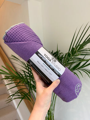 yoga mat grip dot towel | purple - yahra