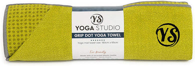 yoga mat grip dot towel | lime green - yahra