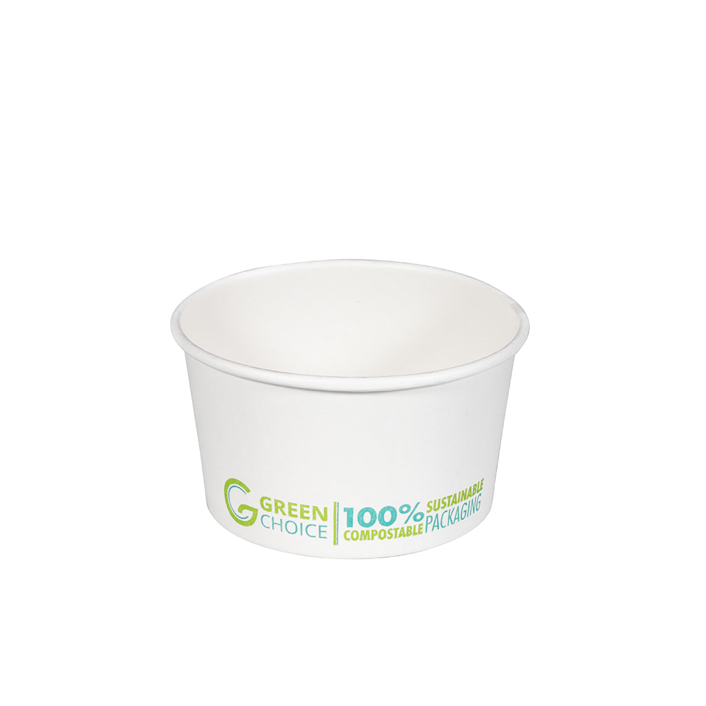 Dessert Tub WHITE PLA - 8oz