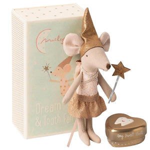 Tooth fairy mouse in matchbox, Big sister - Maileg