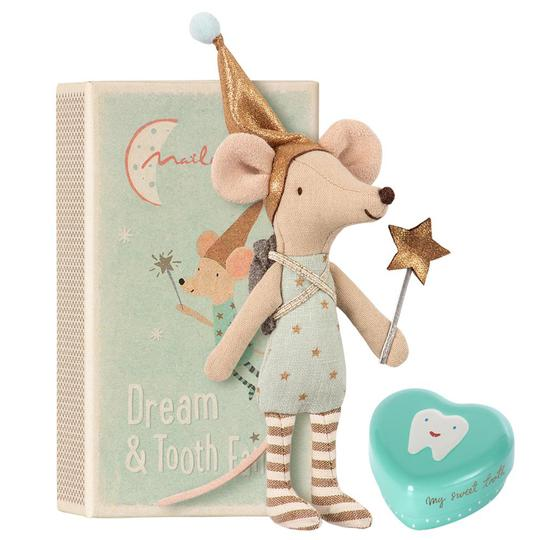 Tooth fairy mouse in matchbox, Big brother- Maileg