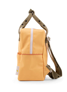Backpack small freckles retro yellow + seventies green + faded orange -Sticky Lemon