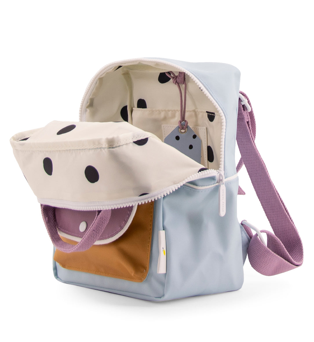 Backpack small  wanderer sky blue + pirate purple + caramel fudge -Sticky Lemon
