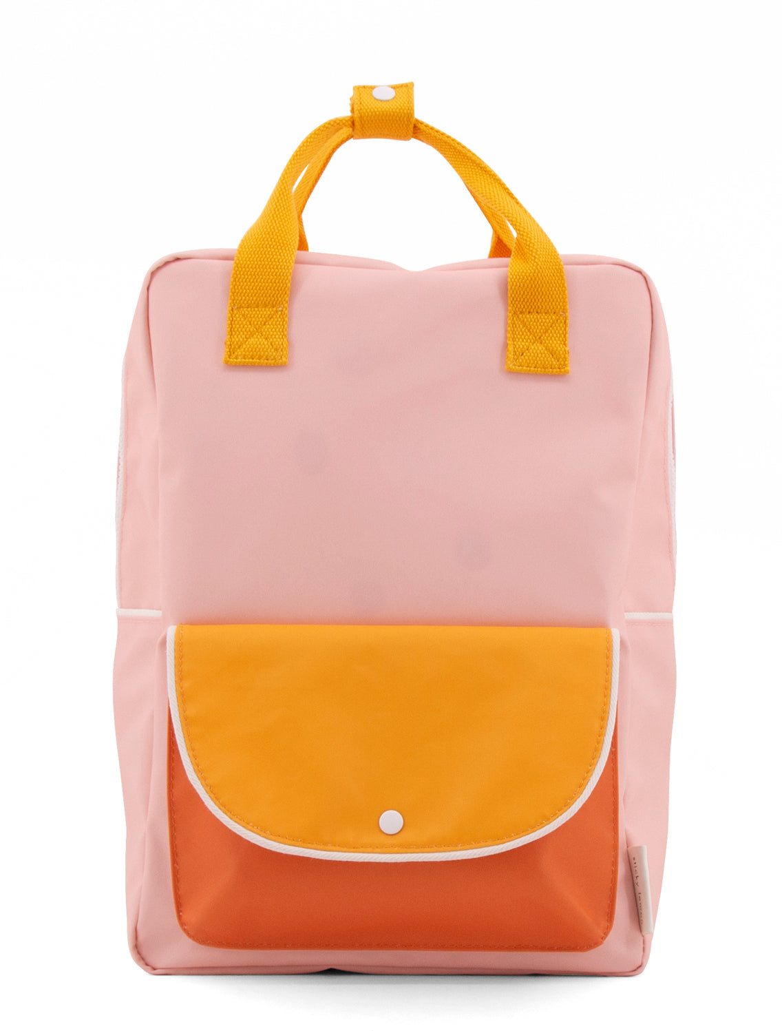 Backpack large wanderer candy pink + sunny yellow + carrot orange -Sticky Lemon