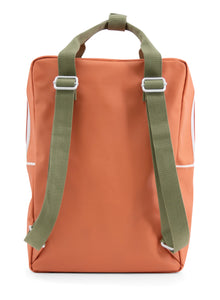 Backpack large wanderer faded orange + seventies green + retro yellow -Sticky Lemon