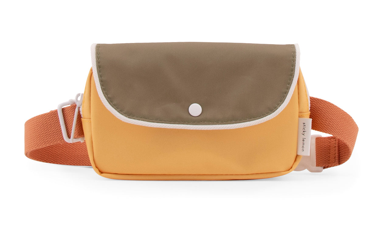 Fanny Pack  wanderer +faded orange+seventies green+retro yellow-Sticky Lemon